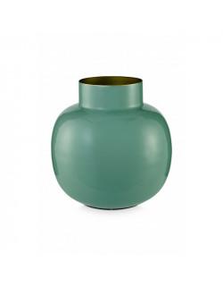 Pip studio kovová váza kulatá 25 cm, zelená
