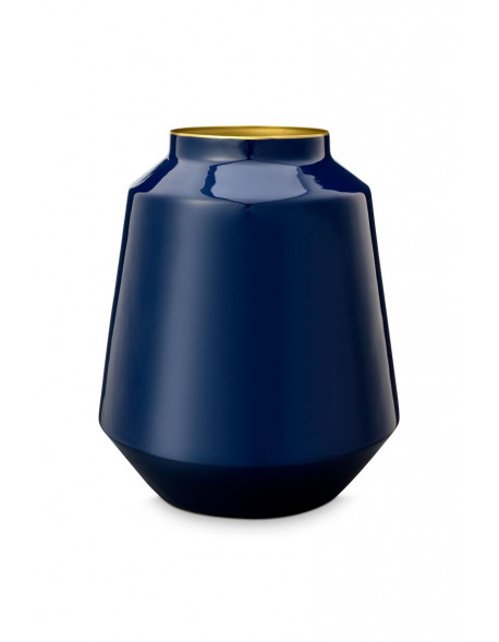 Pip studio kovová váza 36 cm, modrá