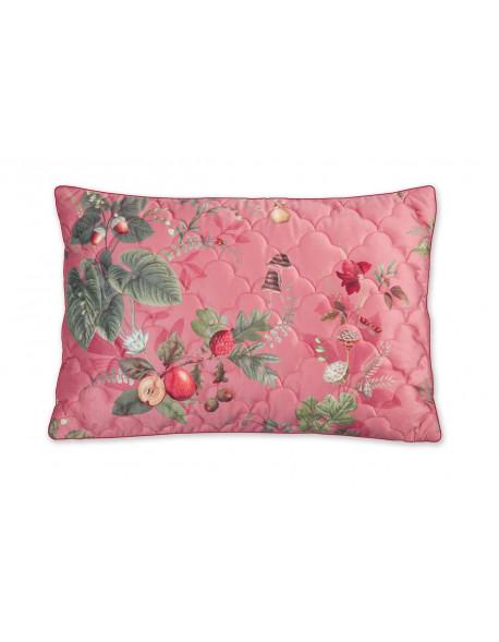 Pip studio Sametový polštář Fall in Leaf tmavě růžový, 42x65 cm