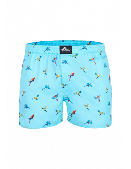 Elka Pánské trenýrky Parrots, modré
