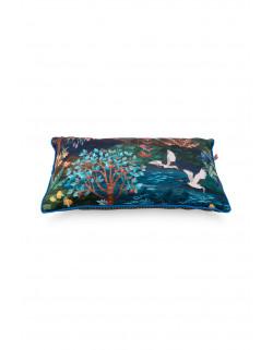 Pip studio dekorační polštář Pip Garden, modrý, 50x30 cm