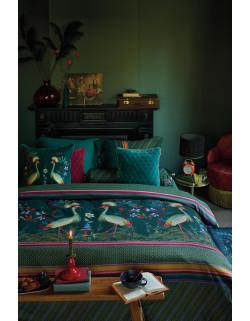 Pip studio luxusní povlečení Birds in a row, zelené