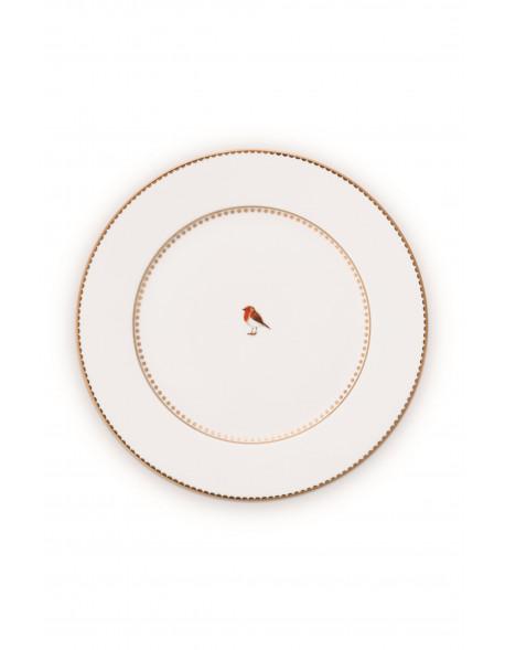Pip studio talíř Love birds, bílý, 21 cm