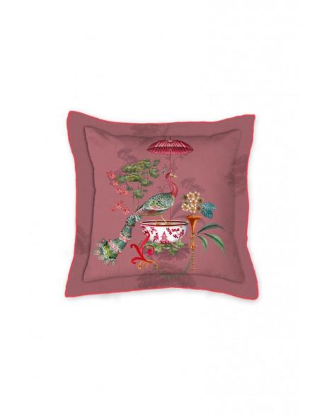 Pip studio polštář čtverec Chinese porcelain, 45x45 cm, růžový
