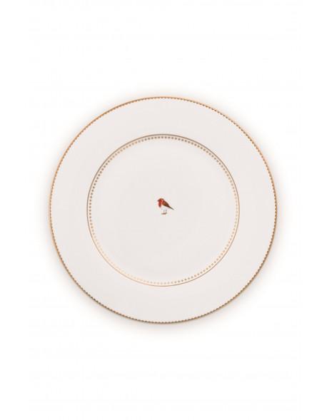 Pip studio talíř Love birds, bílý, 26,5 cm