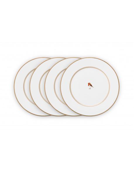 Pip studio Set 4/ talířů Love birds bílé, 17 cm