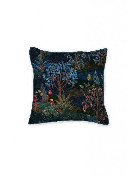 Pip studio prošívaný polštář Pip Garden, 45x45 cm, tmavě modrý