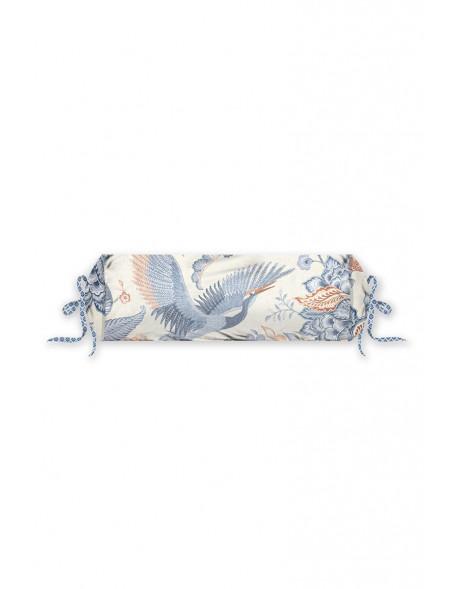 Pip studio polštář válec Royal birds, 22x70 cm, modrý