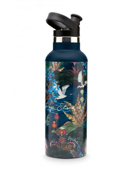 Pip studio sportovní láhev na vodu 600 ml, tmavě modrý