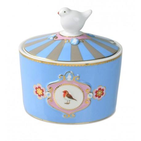 Pip studio Cukřenka Love birds modrá, 300ml